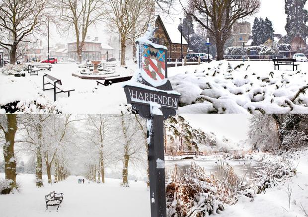 Harpenden in Winter