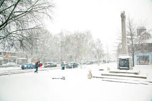 War Memorial in Winter