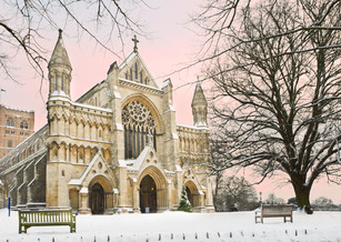 St Albans Abbey at Christmas Time
