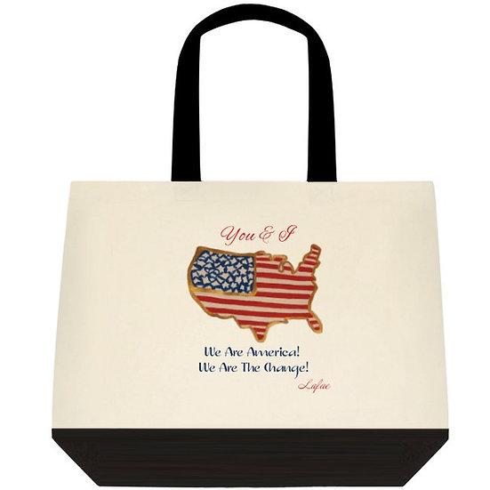 We Are America Two Tone Tote Bag