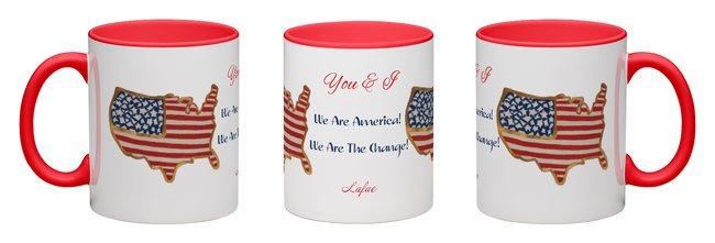 You & I America 12 oz Ceramic Mug