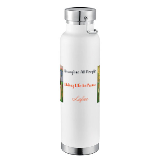 """""""Imagine"""" Insulated Copper Bottle Abstract Design"""