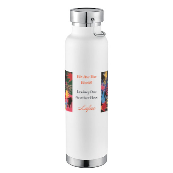 """""""We Are The World"""" Insulated Copper Bottle"""