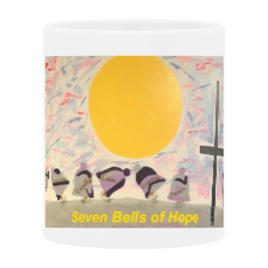 Seven Bells of Hope II ceramic mug