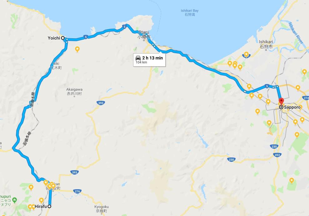 札幌 - 二世古 map