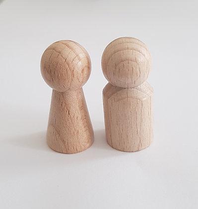 Holzfiguren (Ersatz) 2 Stück