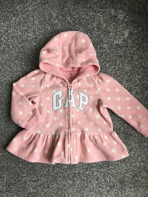 GAP fleece hoodie - size 12-18