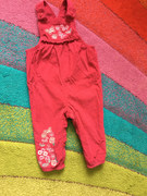 Embroidered corduroy dungarees - 12-18