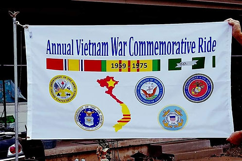 Annual Vietnam War Commemorative Ride Flag (Nylon)