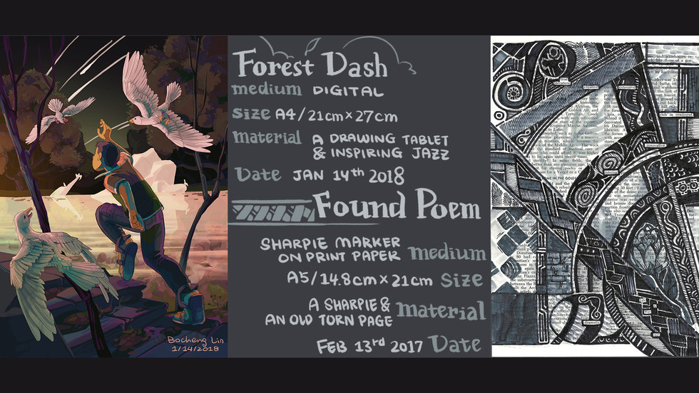 Forest Dash and Found Poem by Bertram Lin