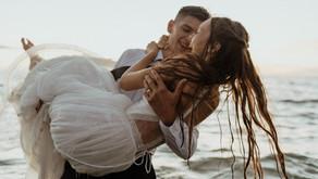 Outdoor Beach Hawaii Wedding + Honeymoon