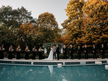 Morton, Illinois Poolside Wedding