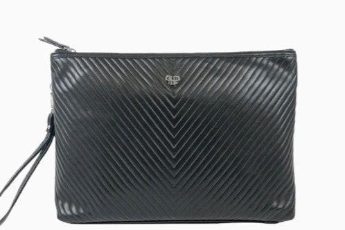 Binyoka's Vegan Leather Clutch Black