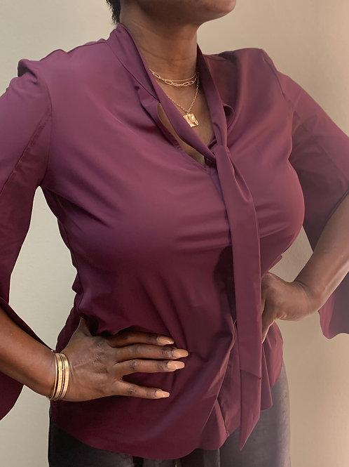 Binyoka's Vintage Fluted Sleeve Blouse