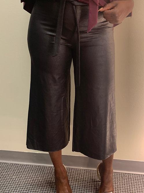 The Mya Vegan Leather Crop Pant