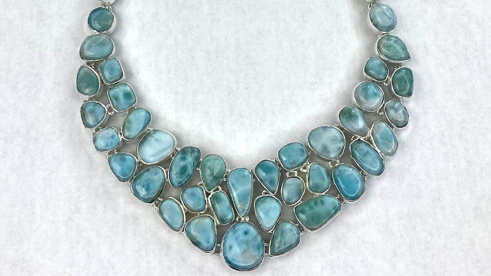 Atlantean Larimar in Sterling Silver Necklace