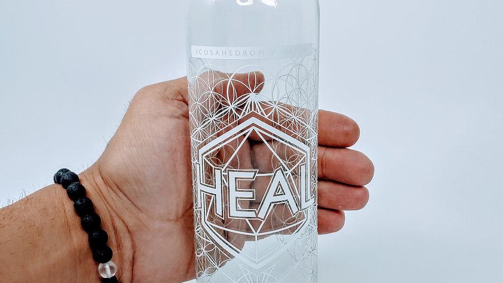 Heal Bottle - 18 oz Steel Cap Tall by Lucid Earth