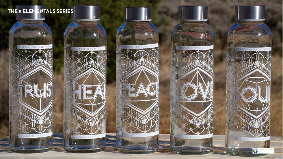 """""""The Whole Set""""  Lucid Earth Elementals + Alignment Bottle (6 Total)"""