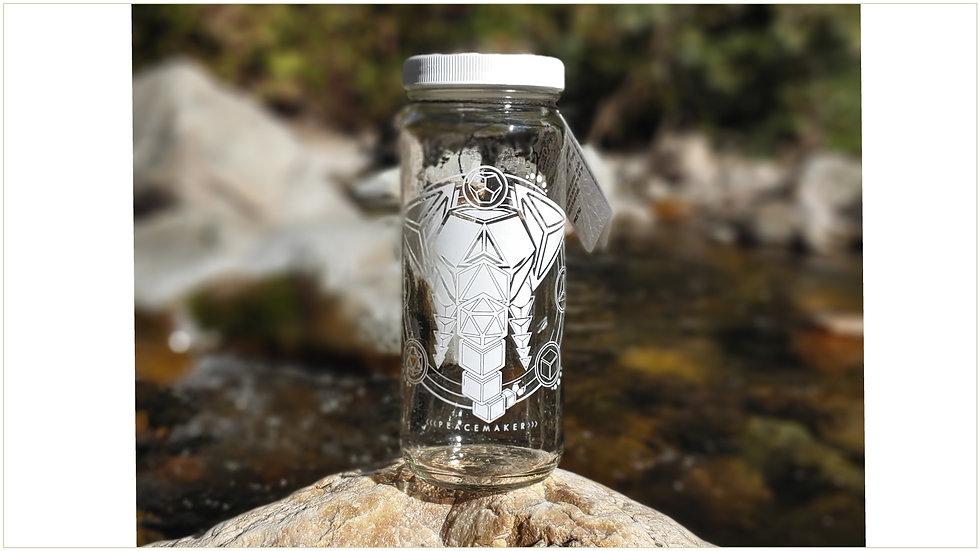 Elephant Bottle - 16 oz Wide Mouth Jar by Lucid Earth