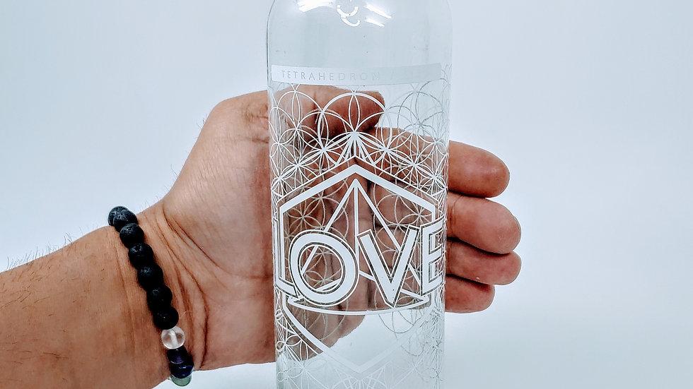 Love Bottle - 18 oz Steel Cap Tall by Lucid Earth