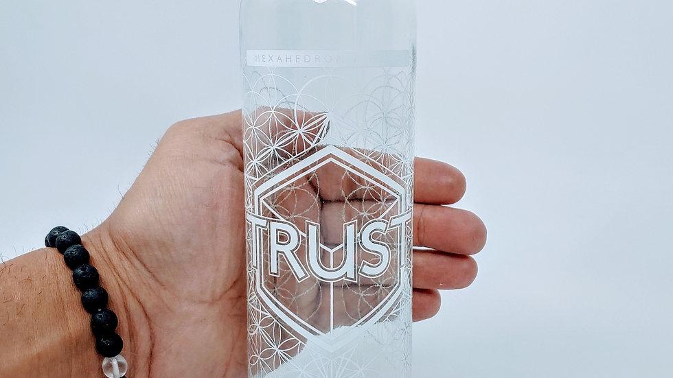 Trust Bottle - 18 oz Steel Cap Tall by Lucid Earth
