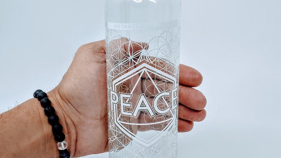 Peace Bottle - 18 oz Steel Cap Tall by Lucid Earth