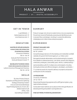Open Hala's resume in PDF