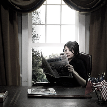 Polaroid Photo of Hala in the Oval Office. No big deal. Ok fine, it's a replica of the Oval Office. Open more photos