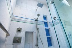 Shower with tile detail