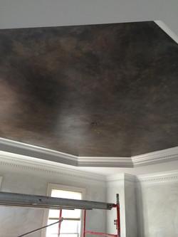 Mottled metallic trey Ceiling