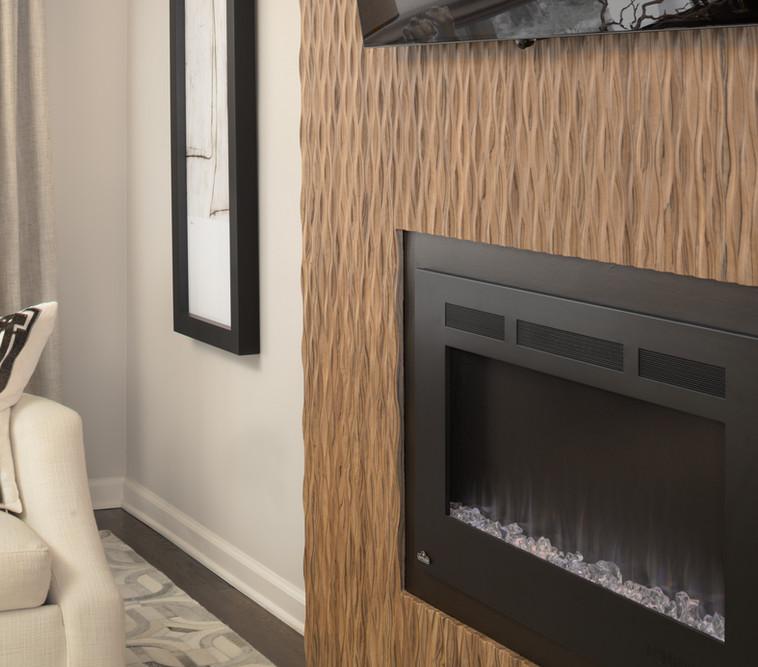 Natura Panel around Fireplace wall