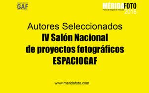 Veredicto del IV Salón Nacional de Proyectos Fotográficos ESPACIOGAF