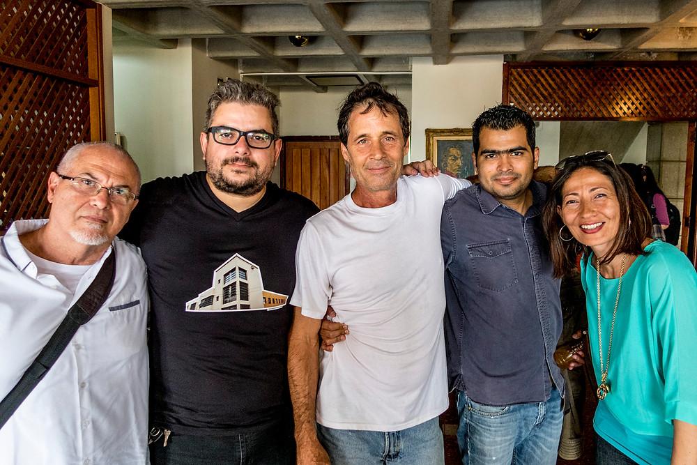 Foto: Jorge Luis Santos De izq a Der. Ricardo Jimenez, Marcel del Castillo, Pablo krisch, Juan Marroquin y Vilena Figueira