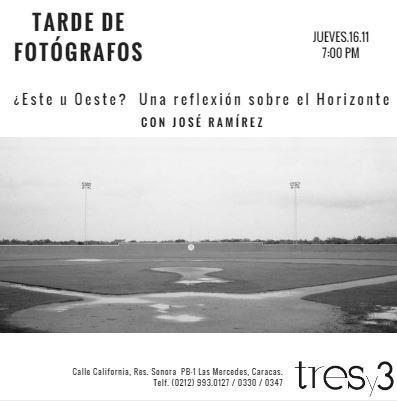 Tarde de Fotógrafos con José Ramirez en Galería tres y 3