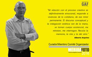 Alberto Asprino : Curador / Miembro Comité Organizador MERIDAFOTO