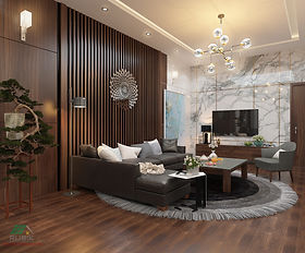 Thiết kế nội thất, nội thất gỗ công nghiệp sang trọng