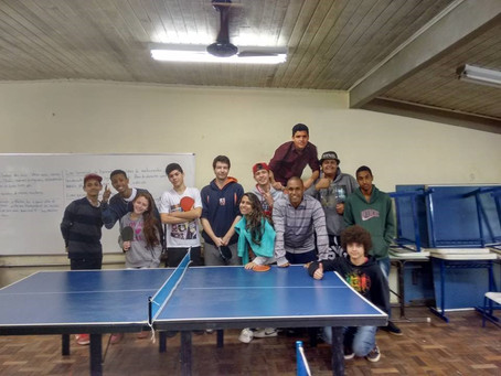 Oficina de Tênis de Mesa na Escola Ceará
