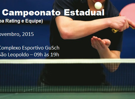 41º Campeonato Estadual - 3ª Etapa Rating e Equipes
