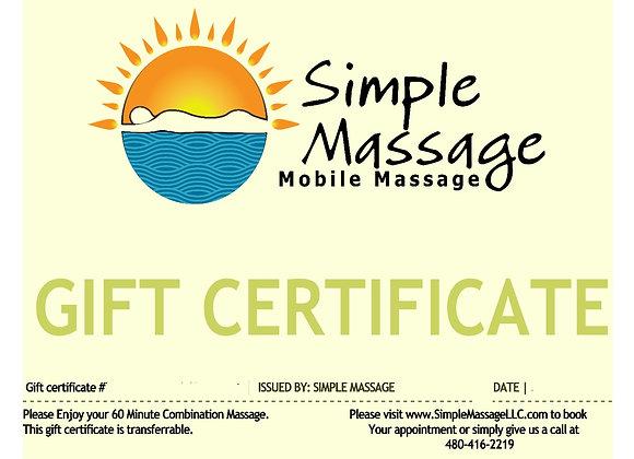60-Minute Gift Certificate