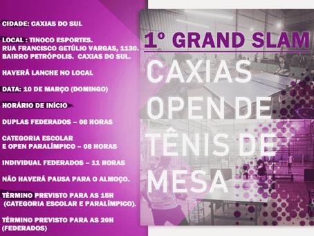 1º Grand Slam - Caxias Open de Tênis de Mesa