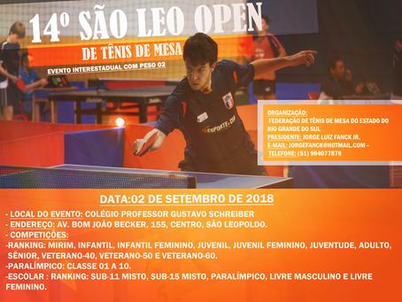14º São Leo Open de Tênis de Mesa – São Leopoldo-RS