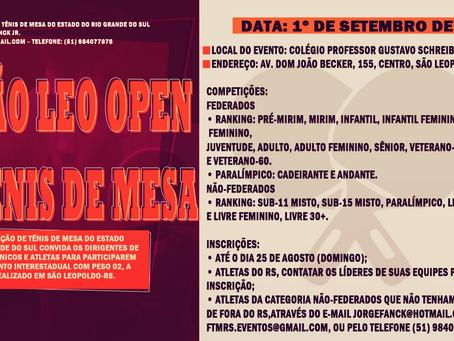 15º São Leo Open de Tênis de Mesa – São Leopoldo-RS