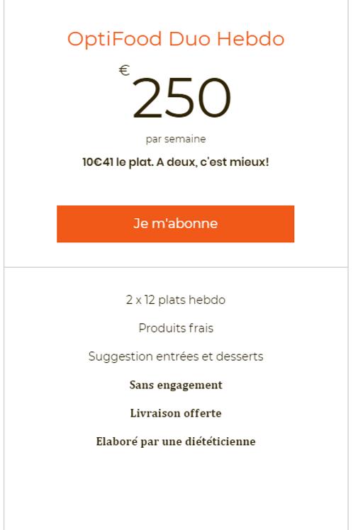 Opti Food Duo Hebdo