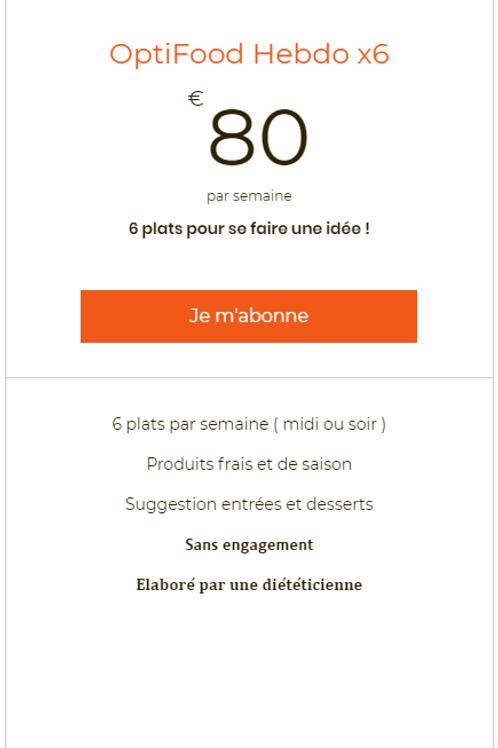 Opti Food Hebdo x6