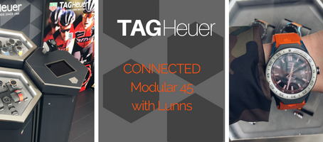Checking out the TAG Heuer Modular 45 at the Lunns Pop-up Belfast