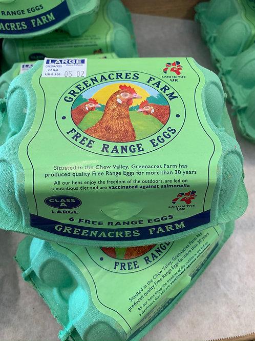 Large Free Range Eggs x6