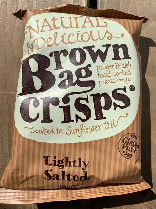 Brown Bag Crisps - Lightly Salted 40g