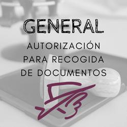 Autorización para la recogida de documentos