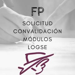 Solicitud de convalidación de módulos LOGSE