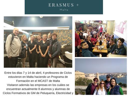 Erasmus+ Alumnos y profesores en Malta